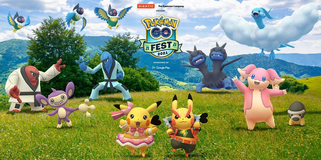 Pokémon GO Fest 2021 Promotional Artwork