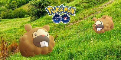 Promo Art for Shiny Bidoof Pokémon GO Event